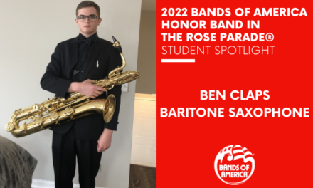 BOA Honor Band in the Rose Parade Student Spotlight: Ben Claps