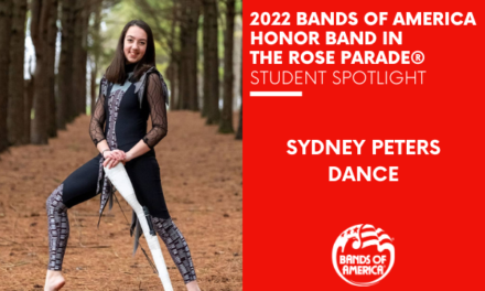 BOA Honor Band in the Rose Parade Student Spotlight: Sydney Peters