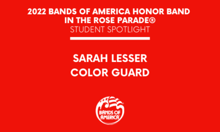 BOA Honor Band in the Rose Parade Student Spotlight: Sarah Lesser