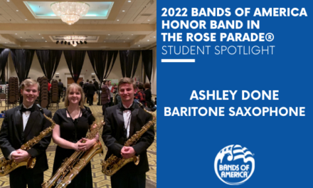 BOA Honor Band in the Rose Parade Student Spotlight: Ashley Done