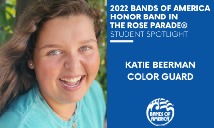BOA Honor Band in the Rose Parade Student Spotlight: Katie Beerman
