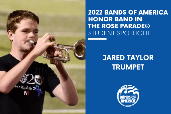 BOA Honor Band in the Rose Parade Student Spotlight: Jared Taylor