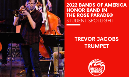 BOA Honor Band in the Rose Parade Student Spotlight: Trevor Jacobs