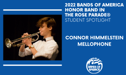 BOA Honor Band in the Rose Parade Student Spotlight: Connor Himmelstein