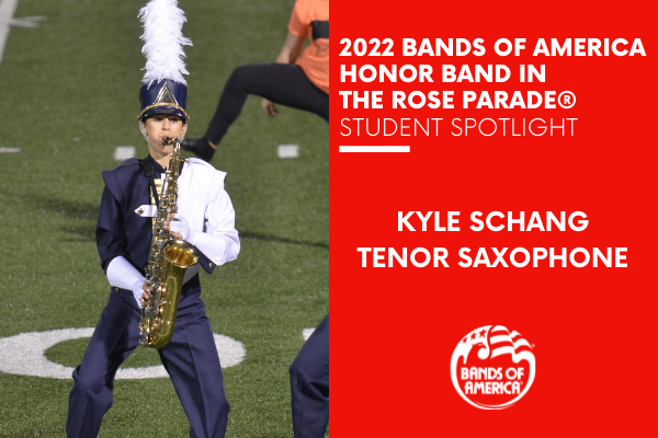 BOA Honor Band in the Rose Parade Student Spotlight: Kyle Schang